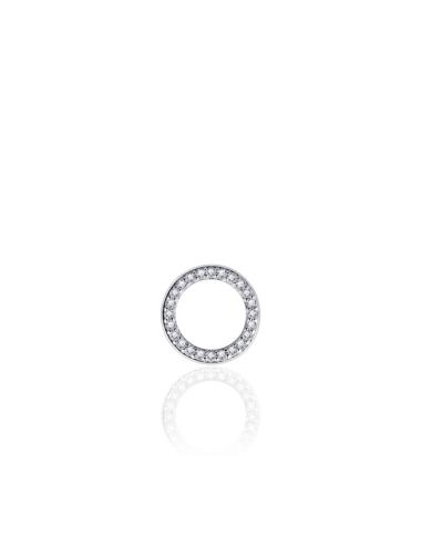 Zilveren Hanger Cirkel met Zirkonia