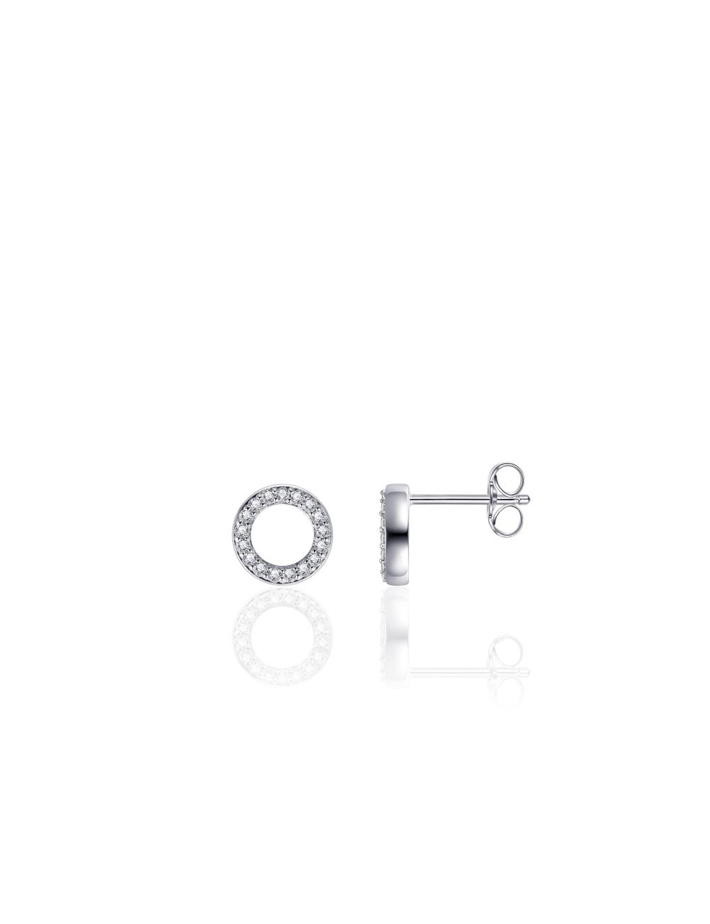 Zilveren Oorsteker met Zirkonia Cirkel