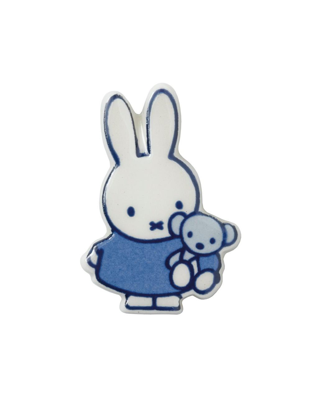 Magneet Nijntje met beer Delfts Blauw