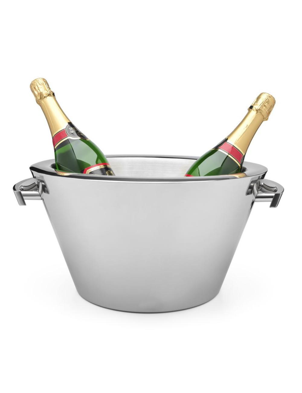 Champagneschaal dubbelwandig met oren