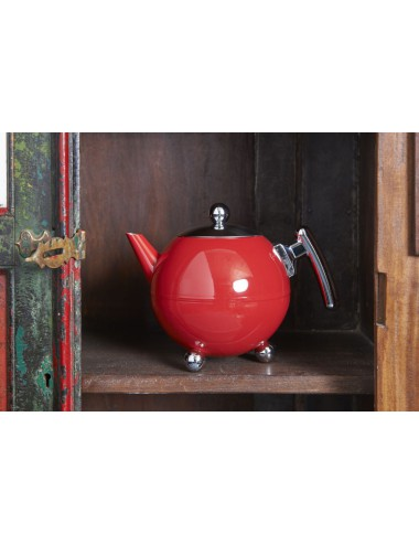 Theepot Duet® Bella Ronde 1,2L, Carmine Red