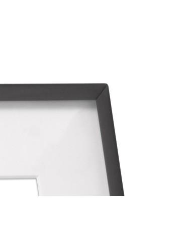 Fotolijst Arizona, glanzend zwart metaal 13x18cm
