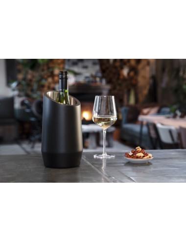 Wijnkoeler dubbelwandig, RVS mat zwart
