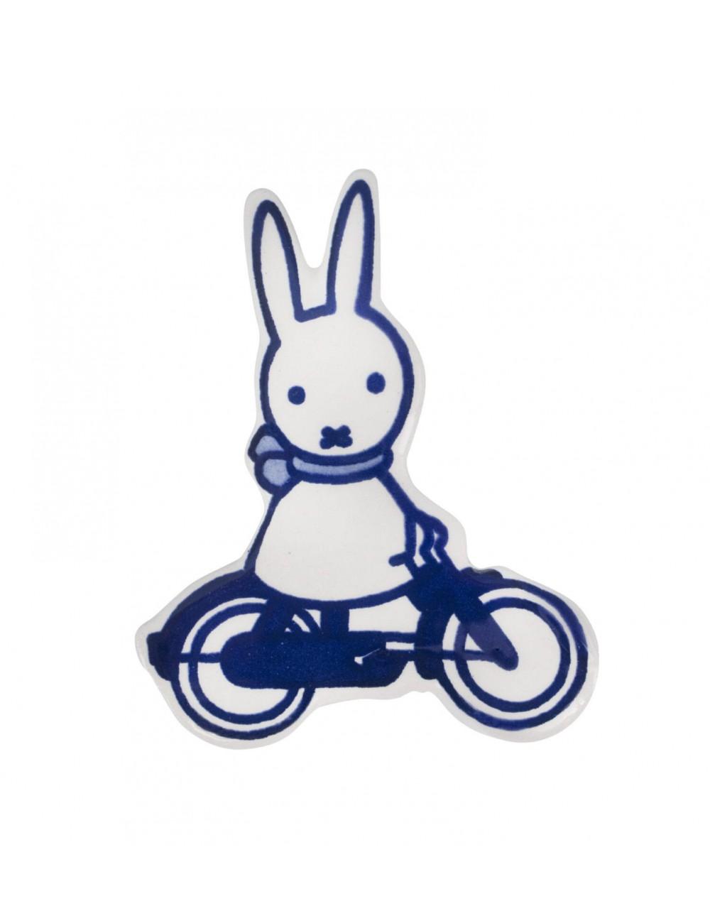 Koelkast magneet Nijntje op de fiets