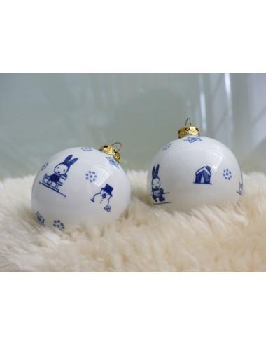 Nijntje Delfts Blauw Kerstbal