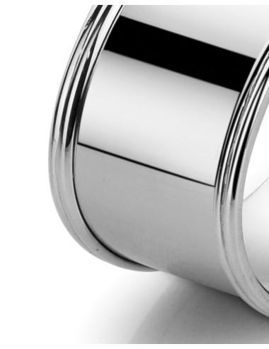 Zilveren servetband Ovaal Filet
